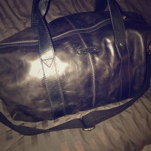 Large Fossil Grey Duffle Bag